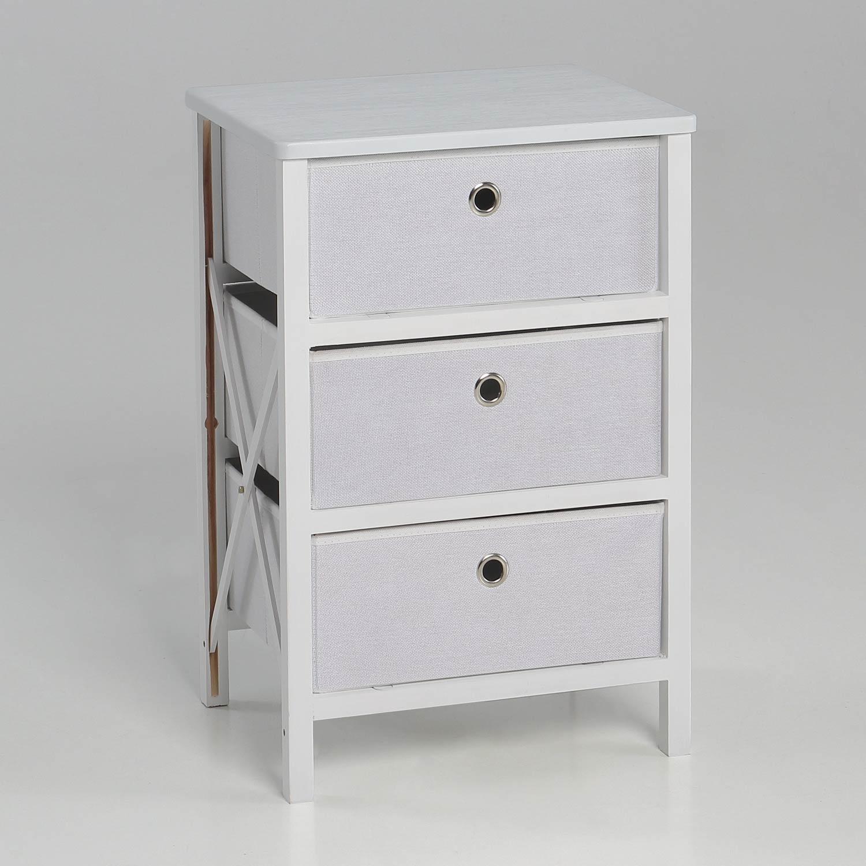 Cajonera 3 cajones tela muebles baratos online for Cajonera blanca barata