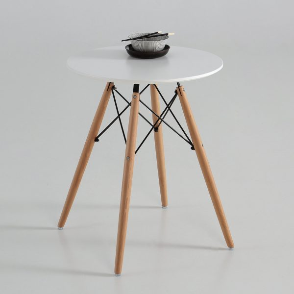 Mesa eco redonda blanca o negra