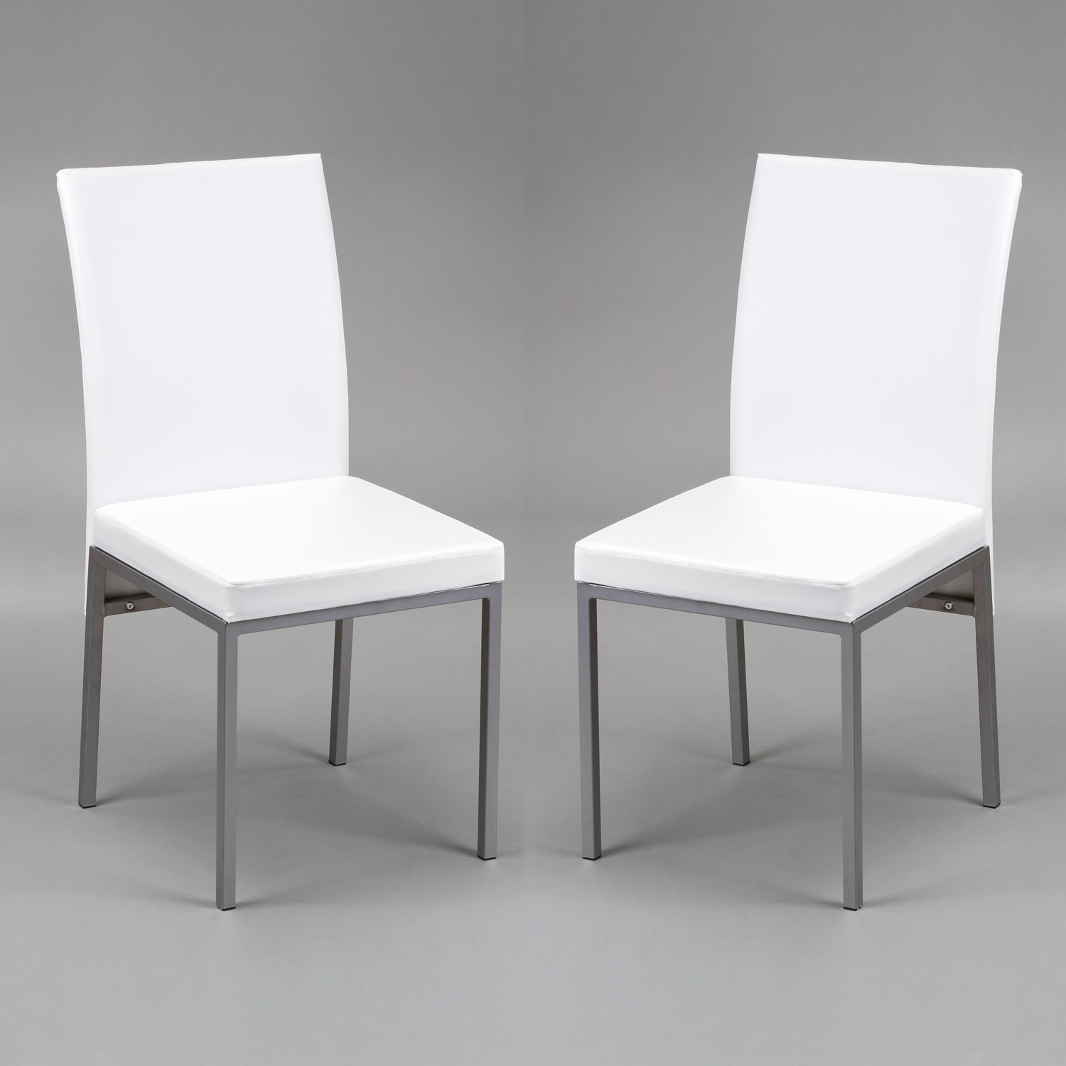 Conjunto mesa 4 sillas lux blanca muebles baratos online for Sillas salon blancas