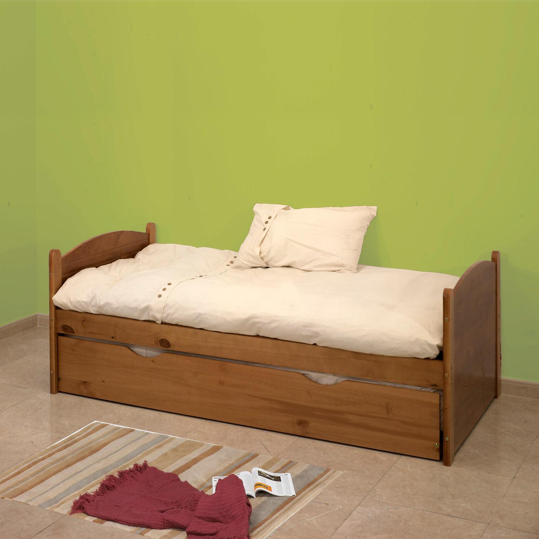 Cama nido color miel muebles baratos online for Cama nido color madera