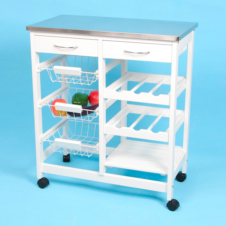 Carro de cocina completo inox muebles baratos online for Carro auxiliar para cocina