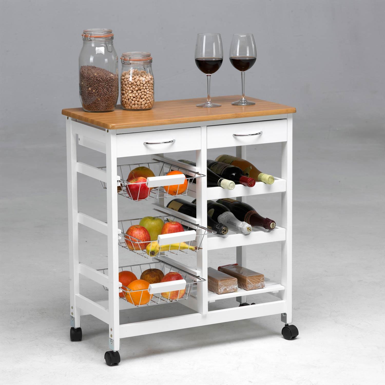 Carro de cocina completo madera muebles baratos online for Muebles para cocina baratos