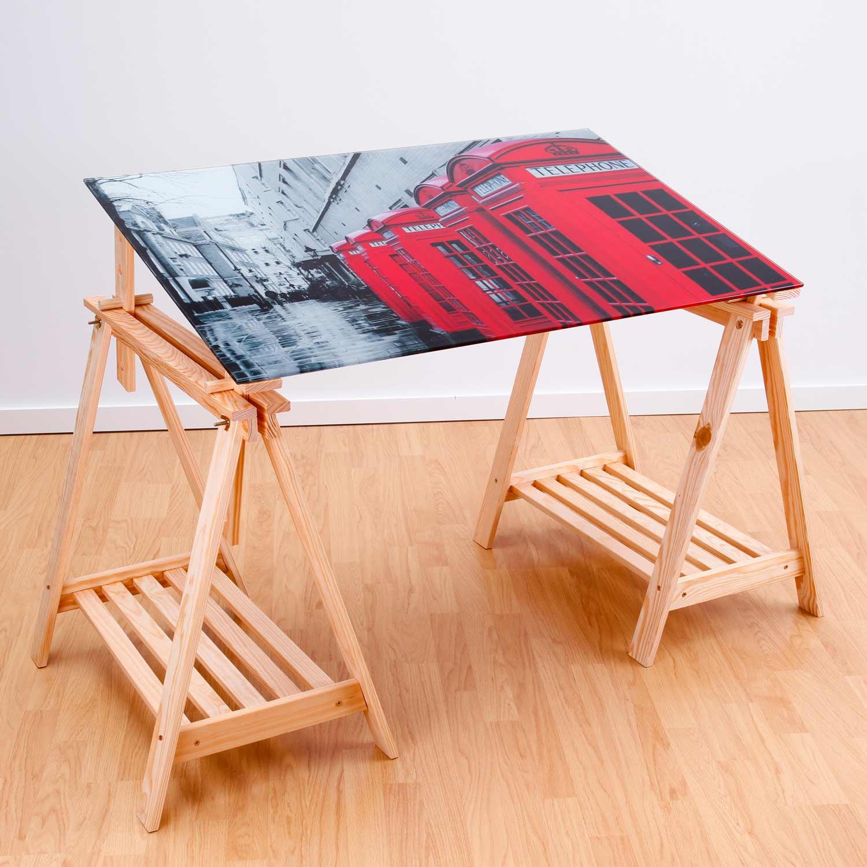 Cristales para mesas muebles baratos online - Mesa estudio cristal ...