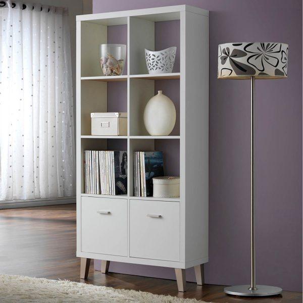 Estanter a 2 puertas y 4 baldas muebles baratos online - Baldas y estanterias ...