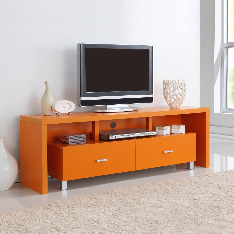 Mesa de televisi n 2 cajones de colores muebles baratos - Mesa de television ...
