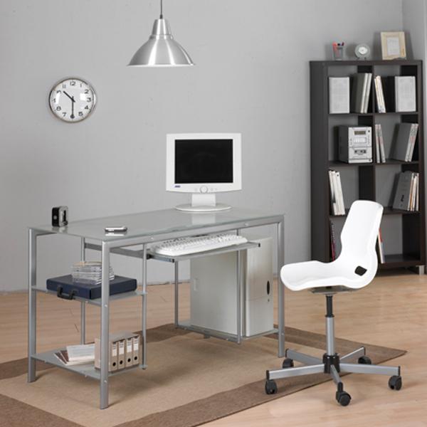Mesa para estudio ordenador muebles baratos online - Mesa cristal despacho ...
