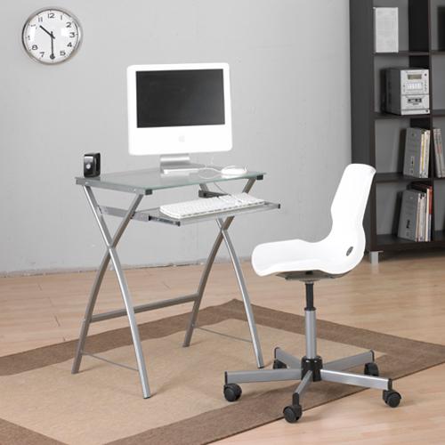 Mesa ordenador cristal portateclado muebles baratos online for Mesa ordenador cristal
