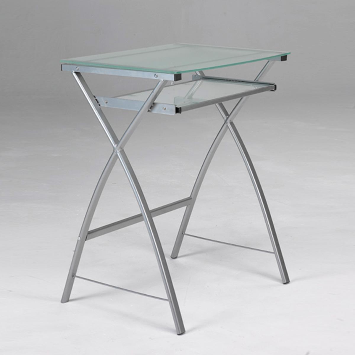 Mesa ordenador cristal portateclado muebles baratos online - Mesas de ordenador baratas online ...