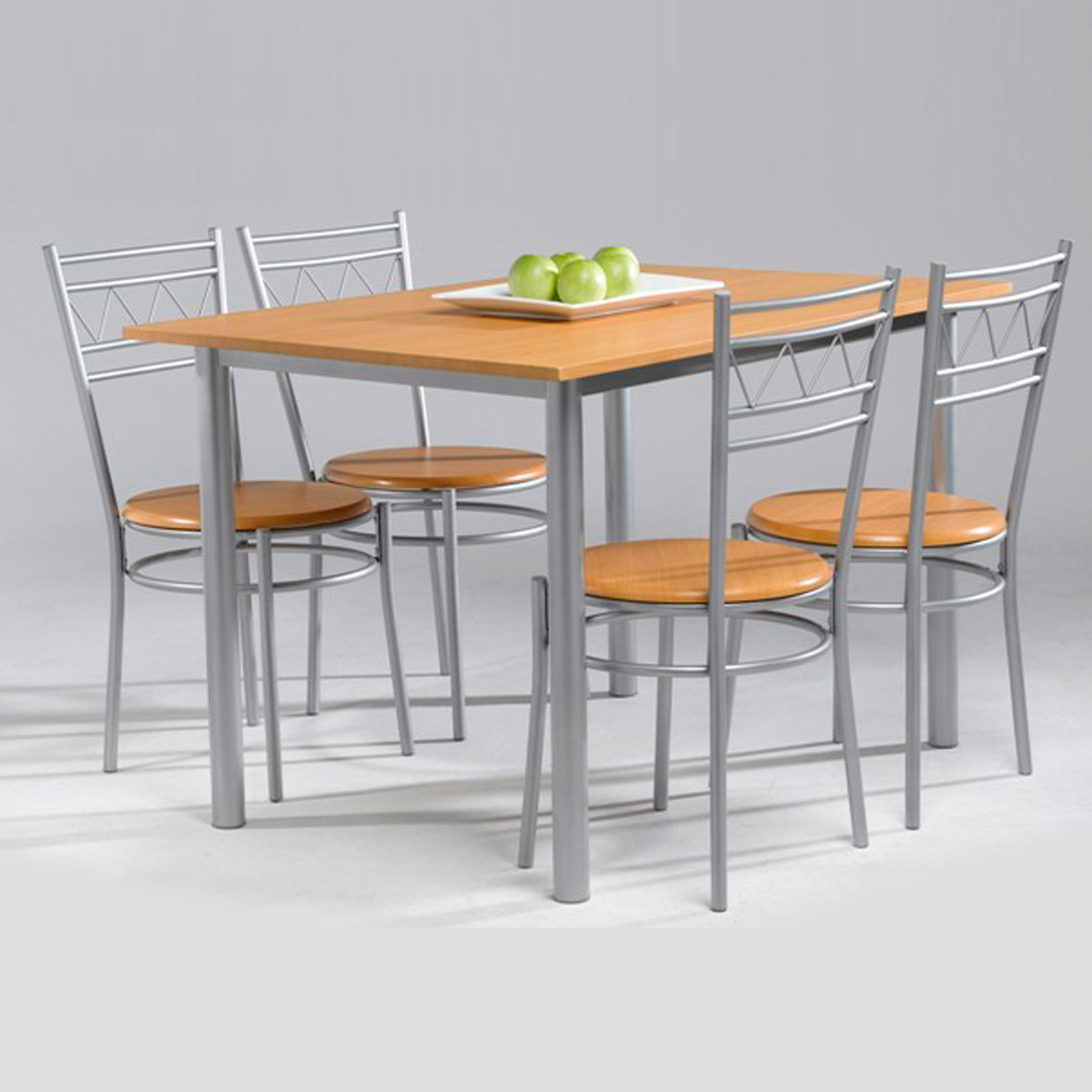 Conjunto anillo de mesa de cocina 4 sillas muebles for Mesas de cocina zaragoza