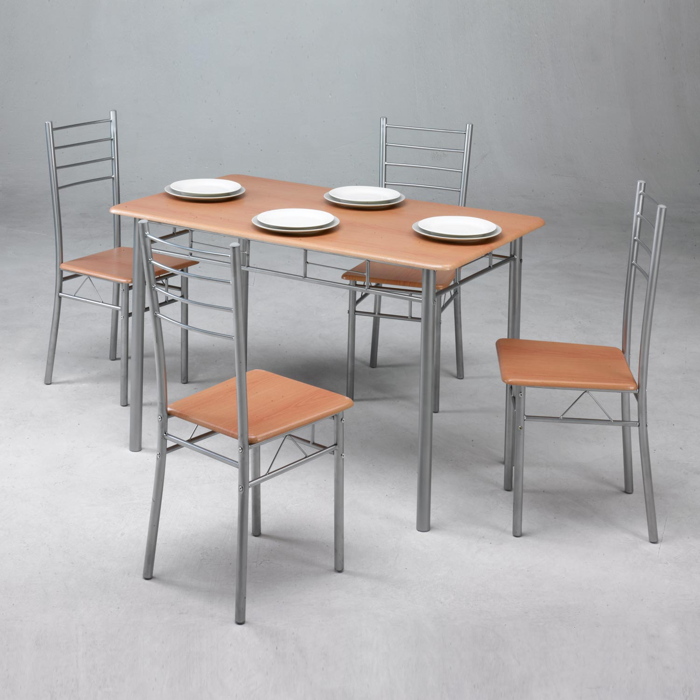 Conjunto mesa de cocina 4 sillas muebles baratos online for Mesas y sillas de cocina baratas online
