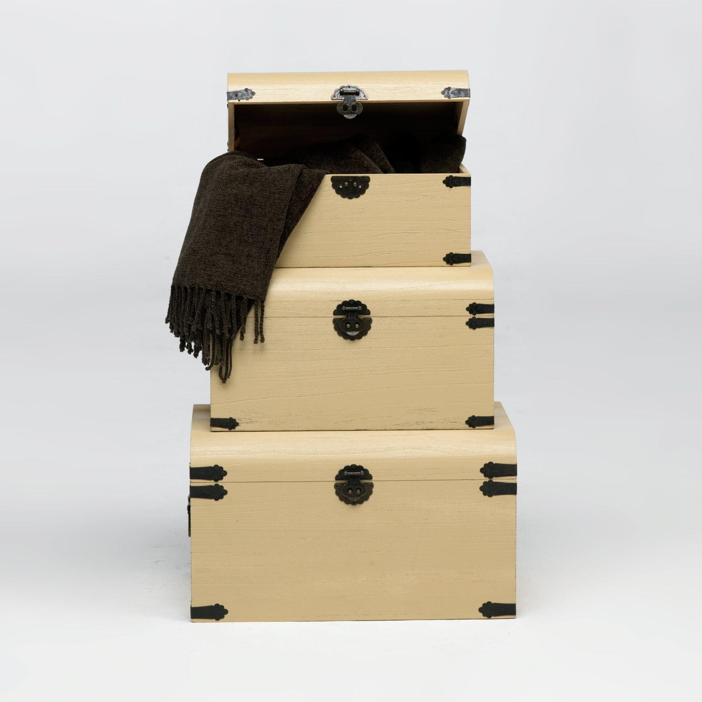 Set de baules decorativos muebles baratos online - Baules baratos madera ...