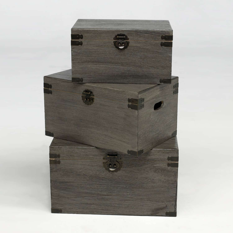 Set de baules decorativos negros muebles baratos online - Baules decorativos ...