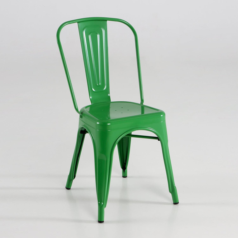Silla de metal varios colores muebles baratos online for Sillas de salon baratas online
