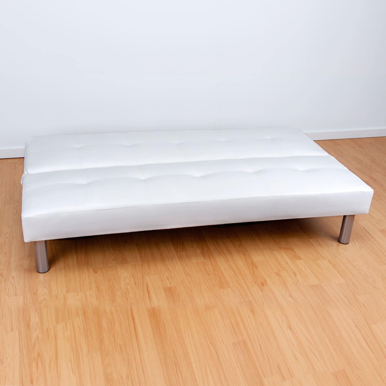 Sof polipiel blanco muebles baratos online - Sofa blanco polipiel ...