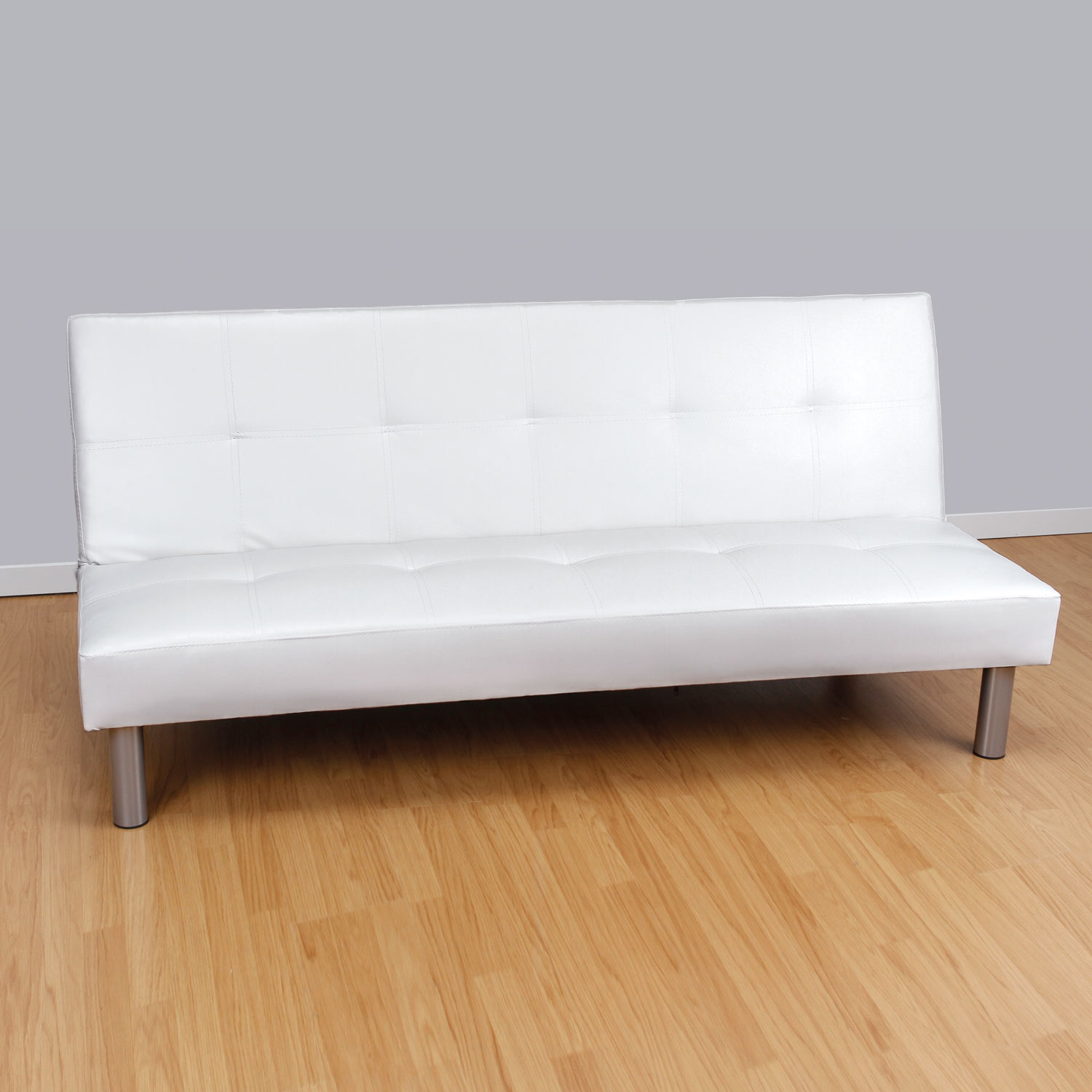 Sof polipiel blanco muebles baratos online for Sofa blanco barato