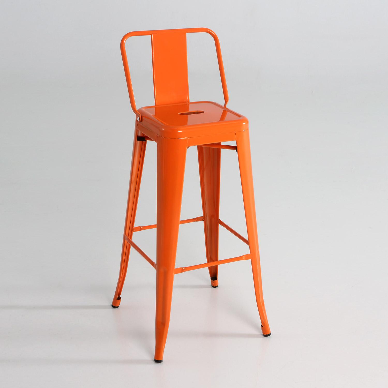Taburete alto de metal con respaldo muebles baratos online - Taburete con respaldo ...
