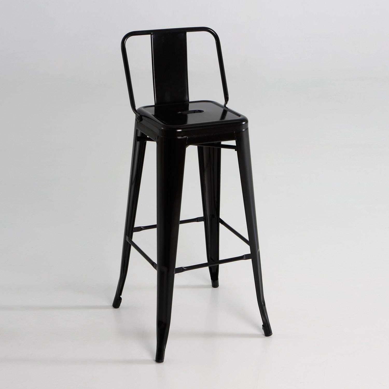 Taburete alto de metal con respaldo muebles baratos online - Taburetes online ...
