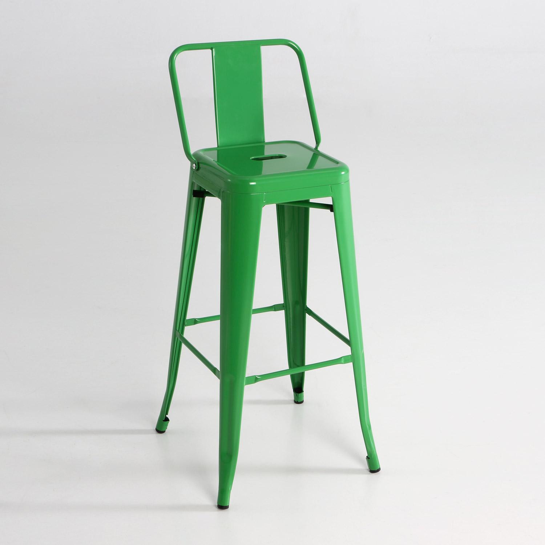 Taburete alto de metal con respaldo muebles baratos online for Taburetes altos con respaldo