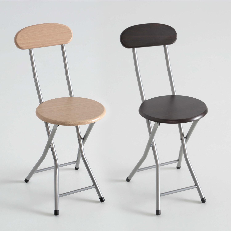 Silla taburete plegable asiento de madera muebles for Sillas para bares y confiterias