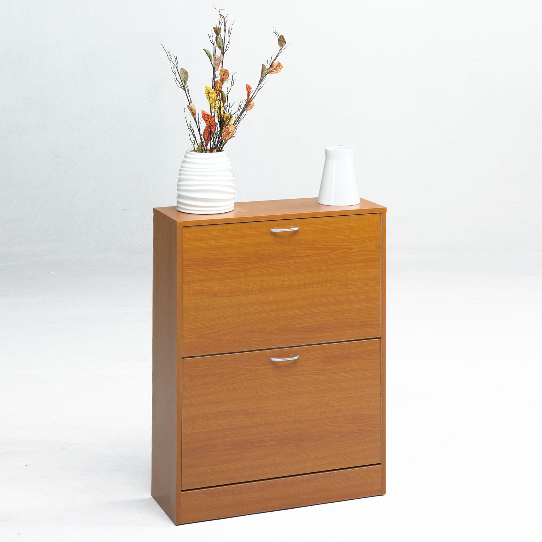 Zapatero 2 puertas muebles baratos online for Zapatero color cerezo