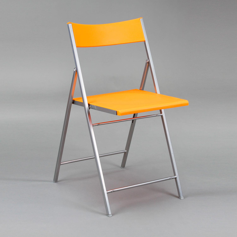 Silla plegable pvc recta muebles baratos online for Sillas naranjas baratas