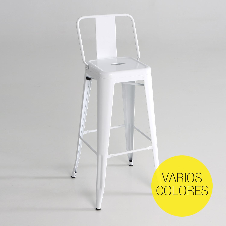 Taburete alto de metal con respaldo muebles baratos online - Taburetes altos con respaldo ...